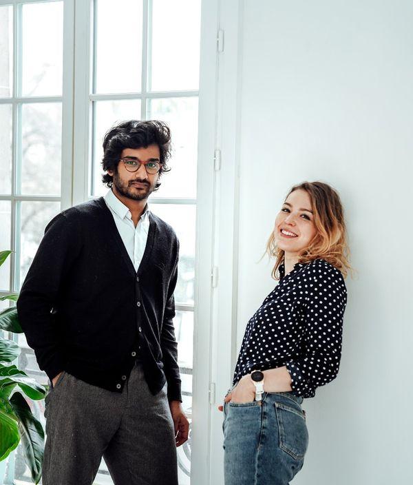 Devan Ahmed et Marina Lemaire sont pour le moment les deux seuls slariés d'Archi'v