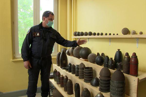 Les démineurs retrouvent des munitions même à Strasbourg. Dans leur collection, des projectiles peuvent dater de l'époque napoléonienne.