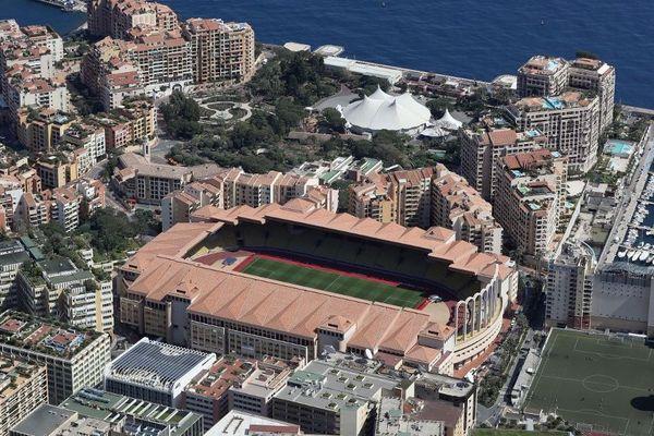 Le stade Louis-II à Monaco vu du ciel.