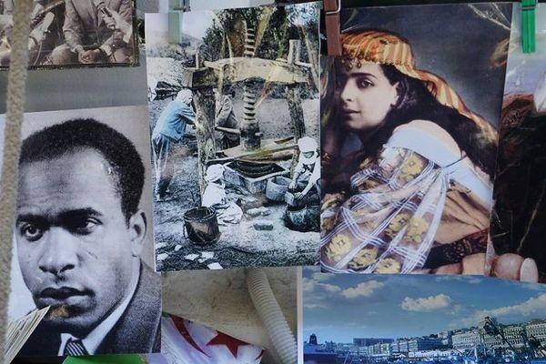 Katia Kaméli, L'œil se noie, photographie tirée du film Le roman algérien, 2015, projection vidéo.