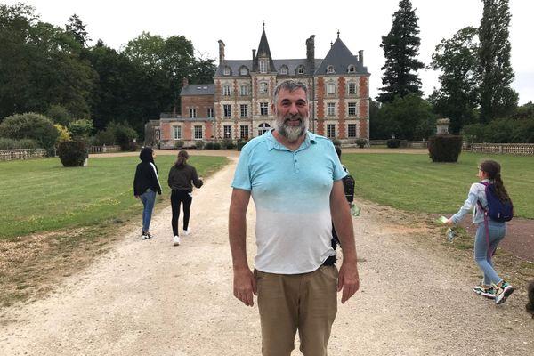Laurent Guerre Genton, le propriétaire du château du Rocheux à Fréteval dans le Loir-et-Cher