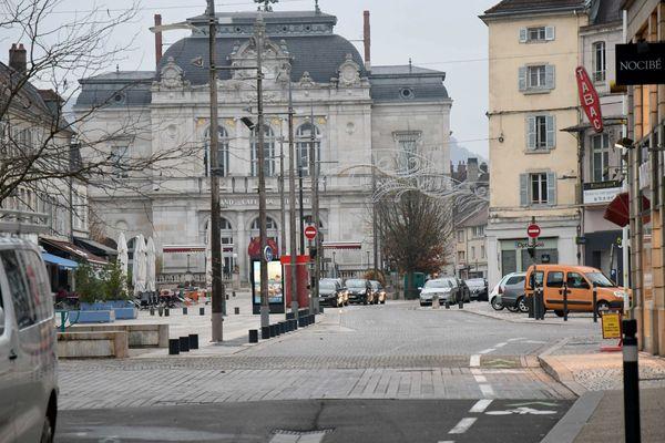 Image d'illustration du centre-ville de Lons-le-Saunier (Jura)