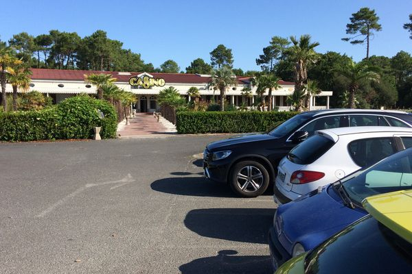 le parking du casino de Gujan-Mestras où Peirre-Ambroise Bosse a été agressé le week-end dernier