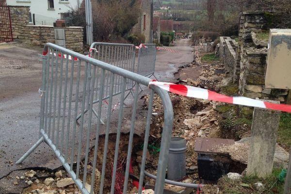La commune de Pouillenay, en Côte-d'Or, a été particulièrement touchée par les violents orages du dimanche 11 mars 2018.