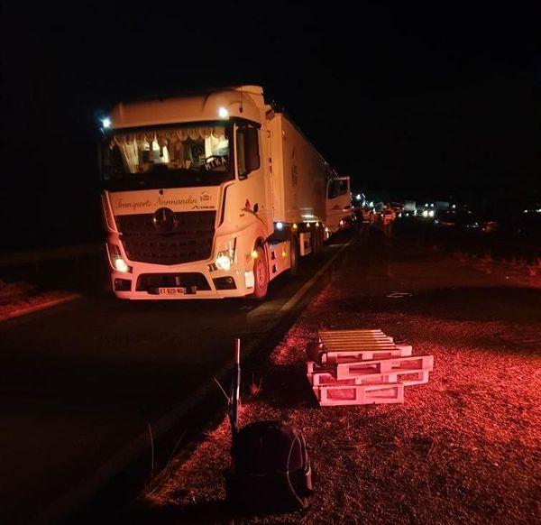 Les camions bloqués ce mercredi à Saint-Vincent de Paul