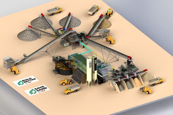 Le système mis au point par la société du Puy-de-Dôme MS Group permet de recycler le sable à l'échelle d'un chantier.