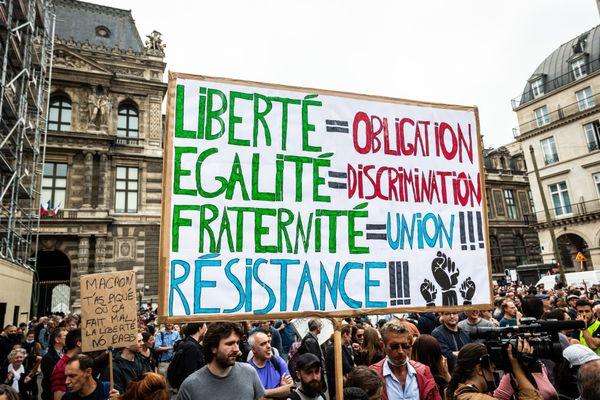 Des manifestants contre le pass sanitaire ont occupé la voie rapide urbaine de Chambéry les 14 et 17 juillet 2021. (Illustration)