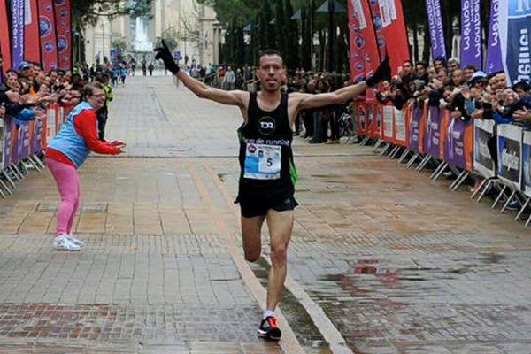 La première place du marathon de Montpellier remportée par le marocain Alaa Hrioured le 20 mars  2016