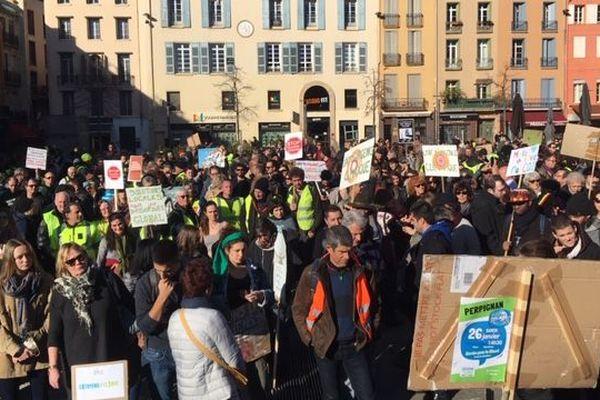 Le 26 janvier, près d'un millier de manifestants s'est réuni à Perpignan pour une nouvelle marche pour le climat.