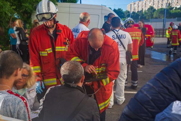 Incendie mortel à Marseille dans un immeuble des quartiers Nord, le 14 juin 2020.