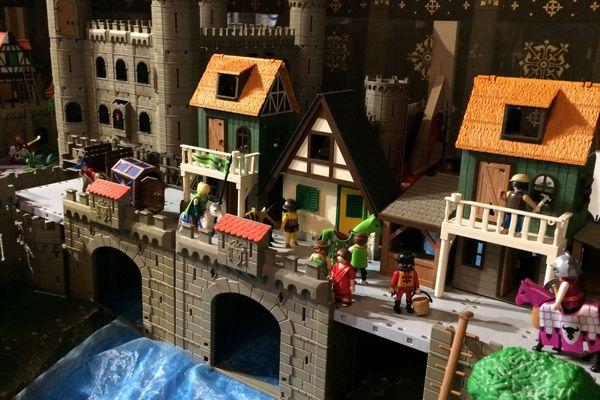 Maquette d'une ville médiévale