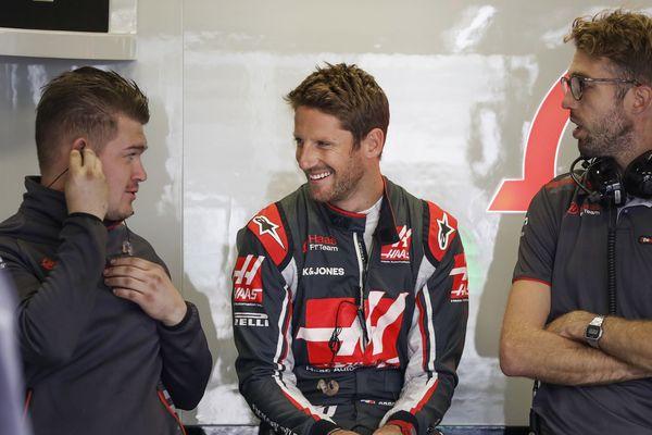 Romain Grosjean pilote de Formule 1
