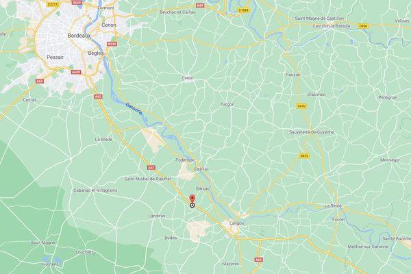 L'accident a eu lieu sur l'A62 au niveau de Pujols-sur-Ciron