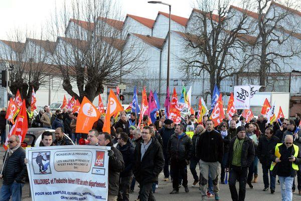 Manifestation des salariés de Vallourec à Tarbes le 10 février 2018