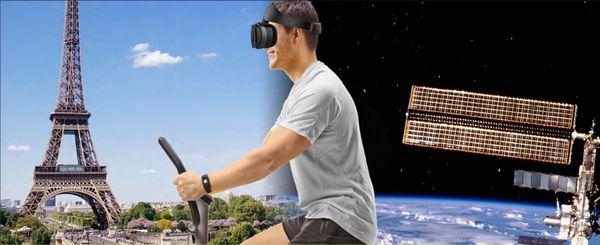 Lors des entrainements de Thomas Pesquet dans l'espace, sa vitesse de déplacement sera synchronisée avec la cadence de pédalage sur le vélo de l'ISS.