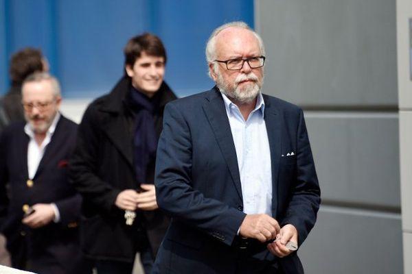 Wallerand de Saint-Just quittant le bureau politique du Front National, en mai 2015.