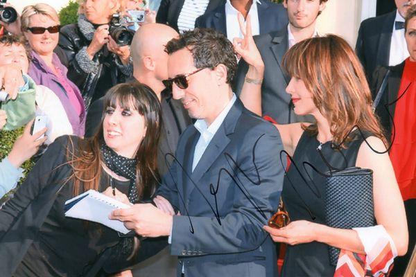 Céline Courtecuisse avec Gad Elmaleh et Sophie Marceau