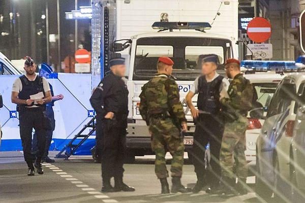 Sur le boulevard Emile Jacq, après l'attaque.