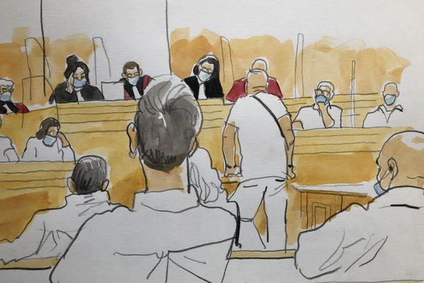 Albi - Un témoin devant la cour d'assises du Tarn au procès en appel de Laurent Dejean accusé du meurtre de Patricia Bouchon. Juillet 2021.