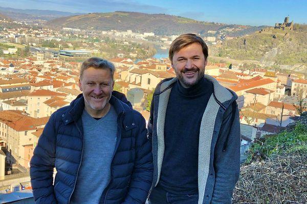 Stéphane Ogier et Pierre-Jean Villa, les deux vignerons à l'origine du projet.