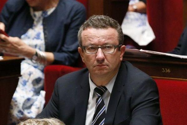 Christian Paul, député de la 2e circonscription de la Nièvre, lors du vote de confiance demandé par le Premier ministre à l'Assemblée nationale mardi 16 septembre 2014.