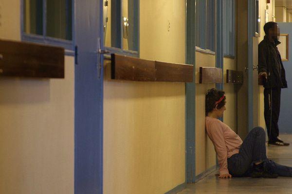 A l'hôpital Sainte-Anne à Paris, en 2007, dans un service de psychiatrie.