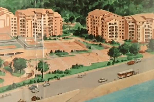 L'ensemble Lyon-plage sur le quai Gillet : une prestation haut de gamme, des cours de tennis, et surtout, une vue imprenable sur la Saône....