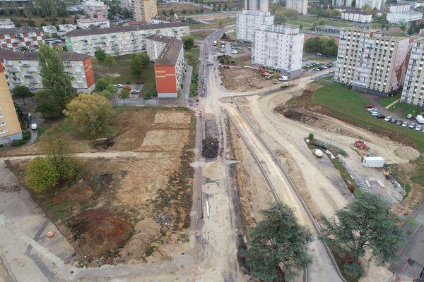Encore quelques mois de travaux, et les abords du boulevard Henri Dunant auront un caractère champêtre.