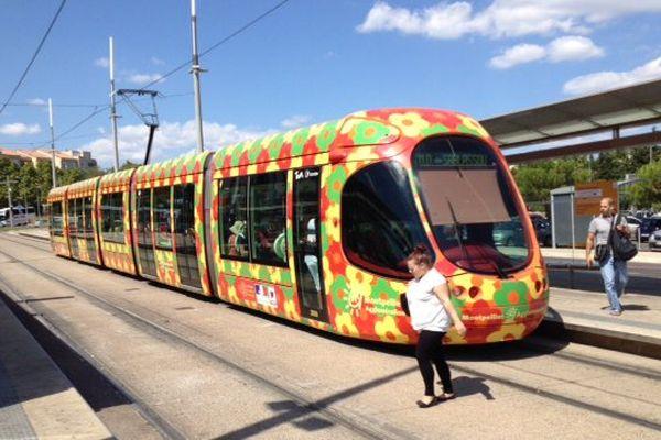 A Montpellier, faites l'appoint avant de prendre un ticket de tramway au distributeur automatique.