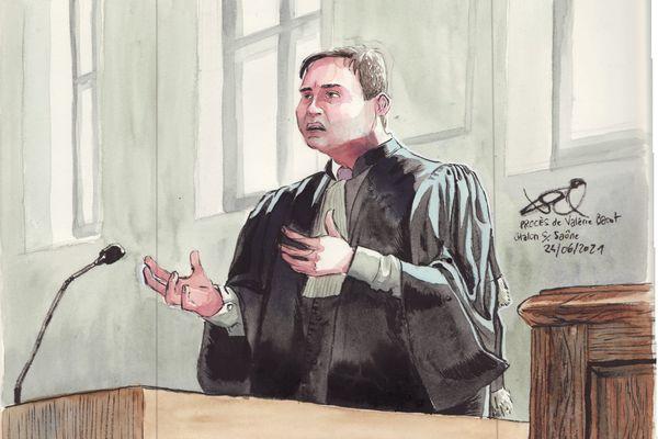 L'avocat de la défense lors de son réquisitoire