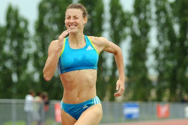 Ophélie Claude-Boxberger au meeting national d'athlétisme de Poligny le 06 juin 2010