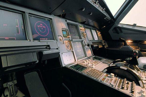 Le cockpit d'un A320