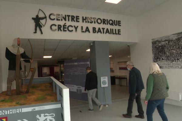 L'entrée du Centre Historique Crécy la Bataille qui a ouverts ses portes pour la première fois à Crécy-en-Ponthieu le 19 mai 2021