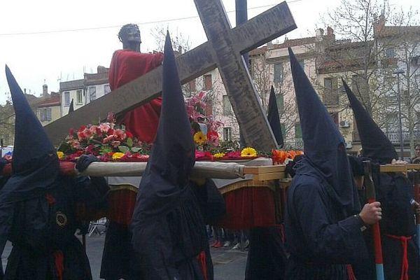 Perpignan - la procession de la Sanch - 25 mars 2016.