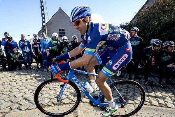 Le cycliste Antoine emoitié lors de la course E3 Prijs Vlaanderen Harelbeke le 25 mars 2016.