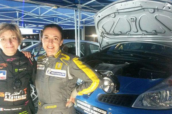 L'équipage féminin du Rallye d'Automne.