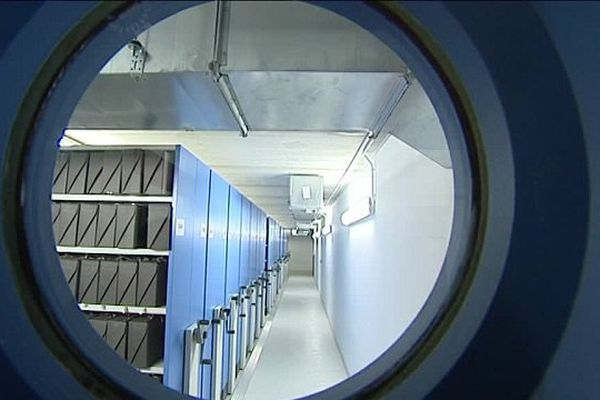 Les archives départementales d'Eure-et-Loir - salle d'archivage