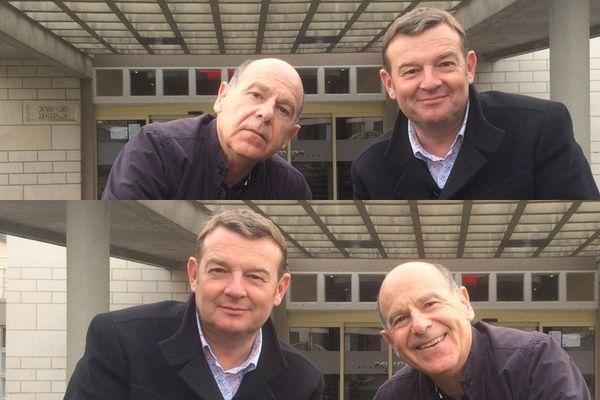 Jacques Perrotte, de l'émission Là où ça bouge, et l'humoriste Didier Bénureau