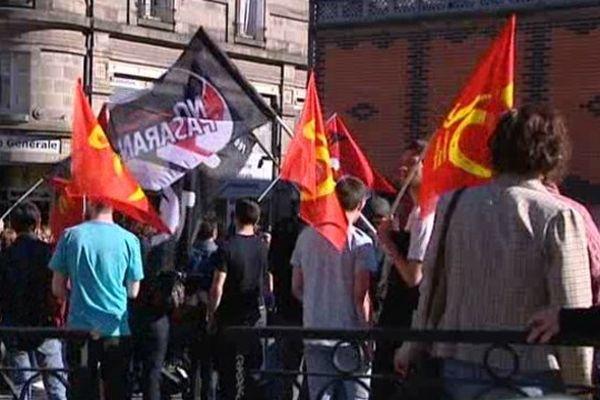 Manifestants contre le Front National Place de la Motte