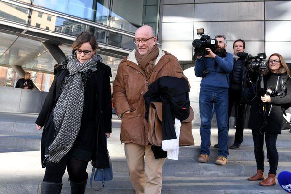 Alain Jakubowicz au palais de justice de Grenoble le 19 mars 2018 après une audition de Nordahl Lelandais.