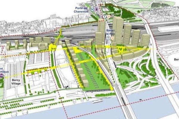 Le projet de ZAC Bercy-Charenton, à Paris.