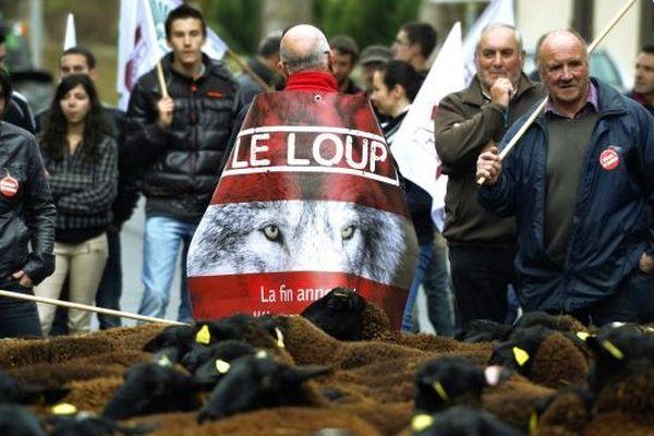 La manifestation anti-loup est partie de Brioude