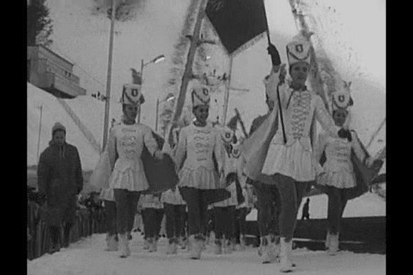Les majorettes de Digne-les-bains ont participé à l'ambiance des JO de Grenoble en 1968