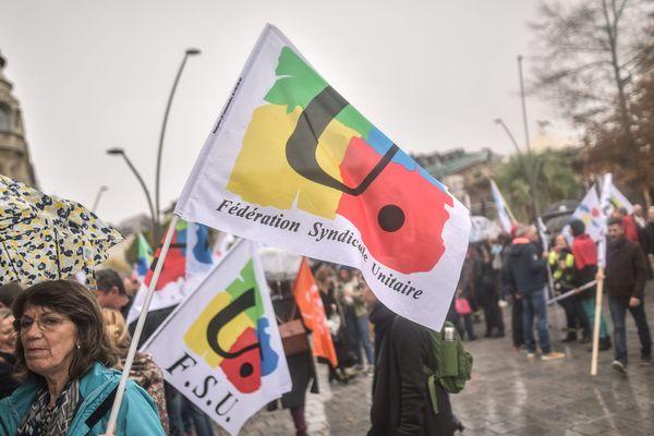 Manifestation des enseignants à Pau, en novembre 2018