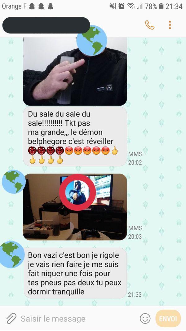 Des messages qu'Arnaud a envoyé à Pauline, en décembre 2019.
