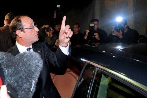 François Hollande, lundi 1er octobre dans le quartier des Granges à Echirolles