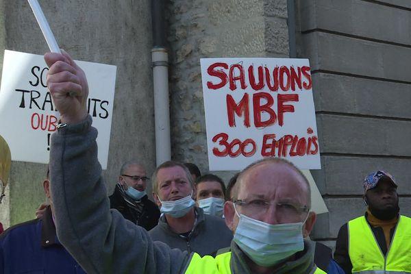 Les salariés de MBF mobilisés sans relâche