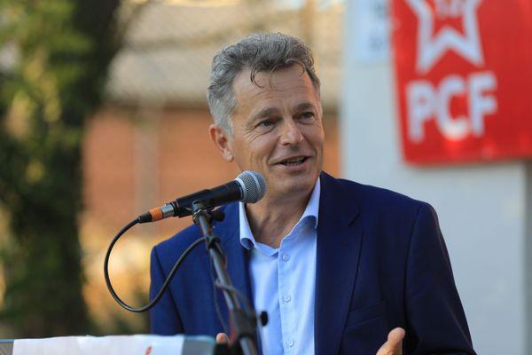 Fabien Roussel lors de l'Assemblée de rentrée des communistes des Bouches-du-Rhône, à Marseille, le 3 septembre.