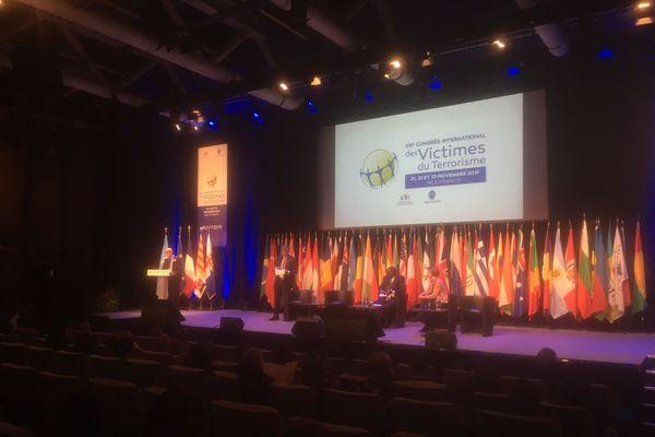 Le 8ème congrès des victimes du terrorisme s'est ouvert ce jeudi après-midi à Nice, Palais Acropolis.