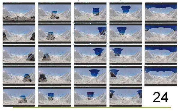 24 photos sont nécessaires à la composition d'une image 360°